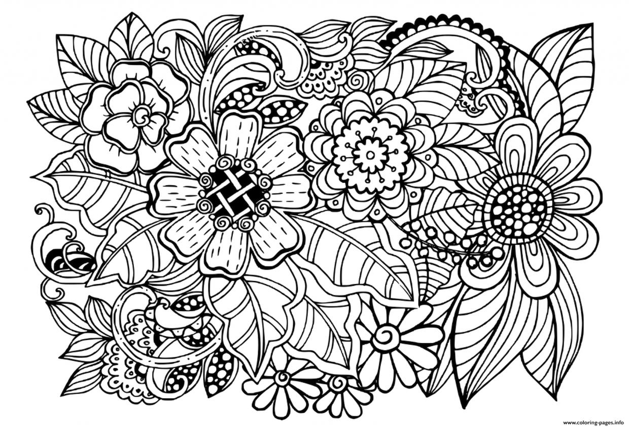 free flower coloring pages for adults get this detailed flower coloring pages for adults flower coloring pages free for adults