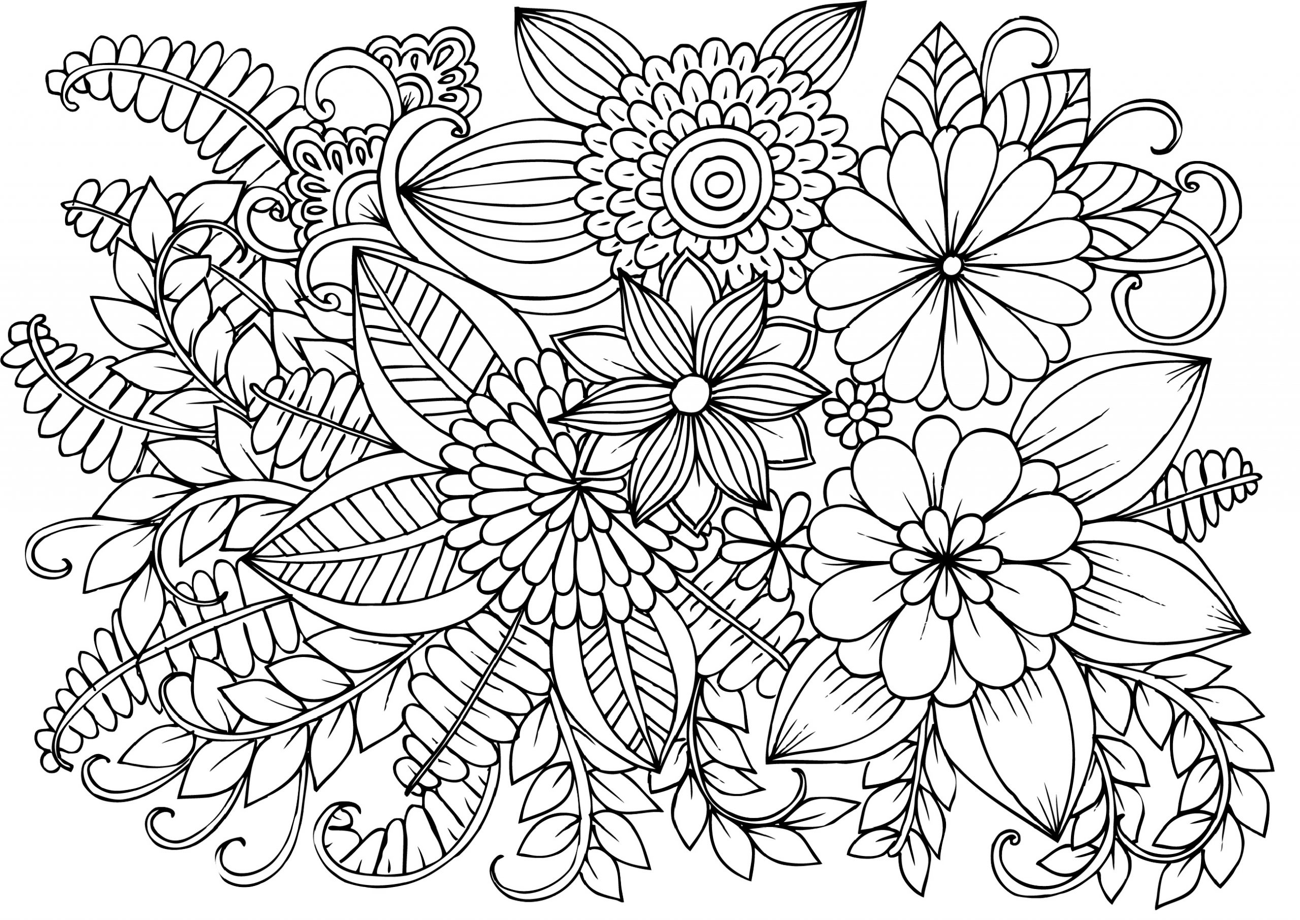 free flower coloring pages for adults realistic flowers coloring pages Рисунки цветов Рисунки for adults pages free coloring flower