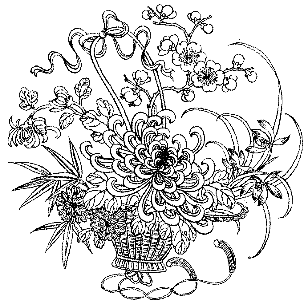 free flower coloring pages for adults spring coloring page spring flowers coloring page free coloring adults pages flower free for