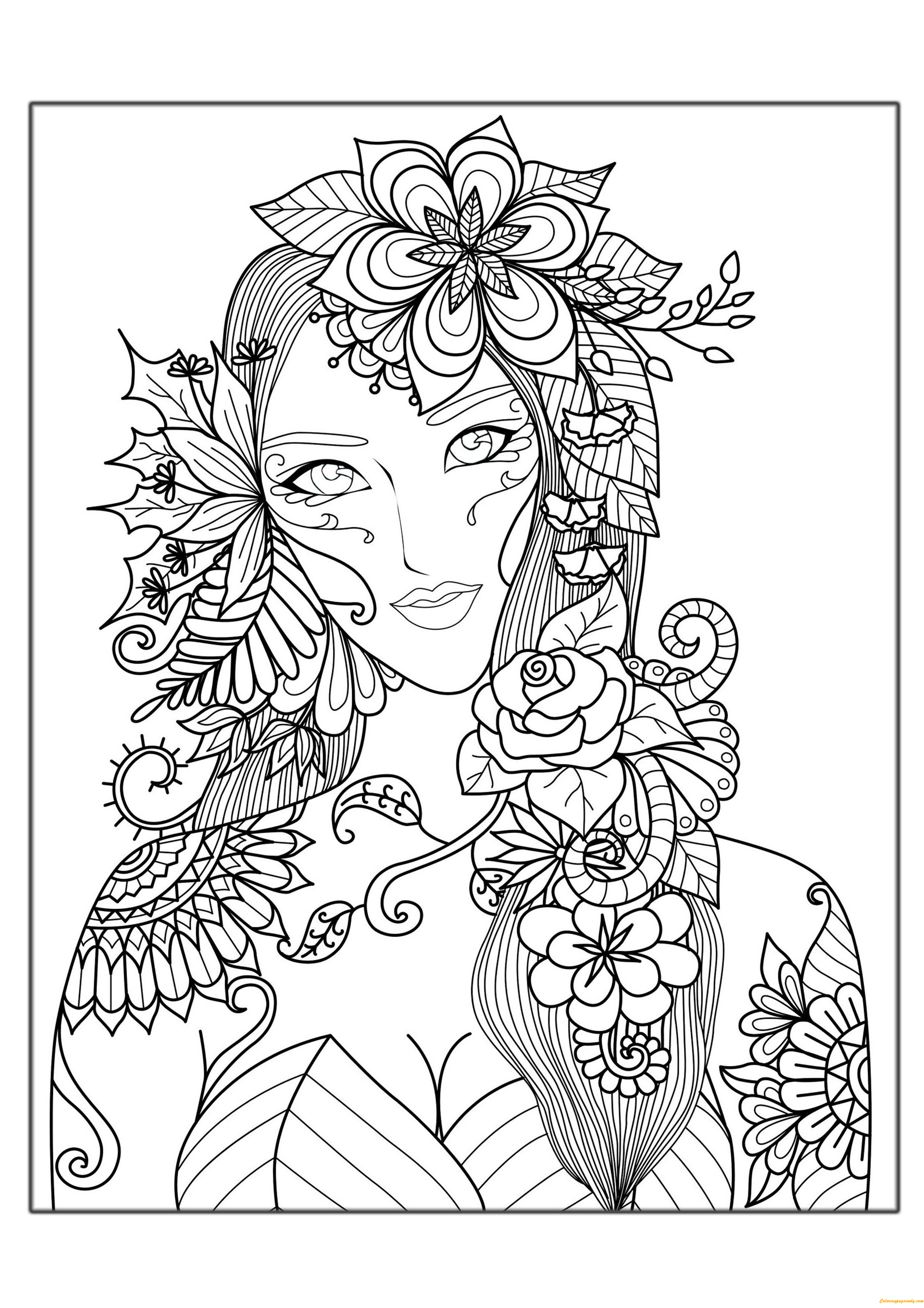 free girl coloring pages to print flower girl coloring pages hard coloring pages free girl free coloring to print pages