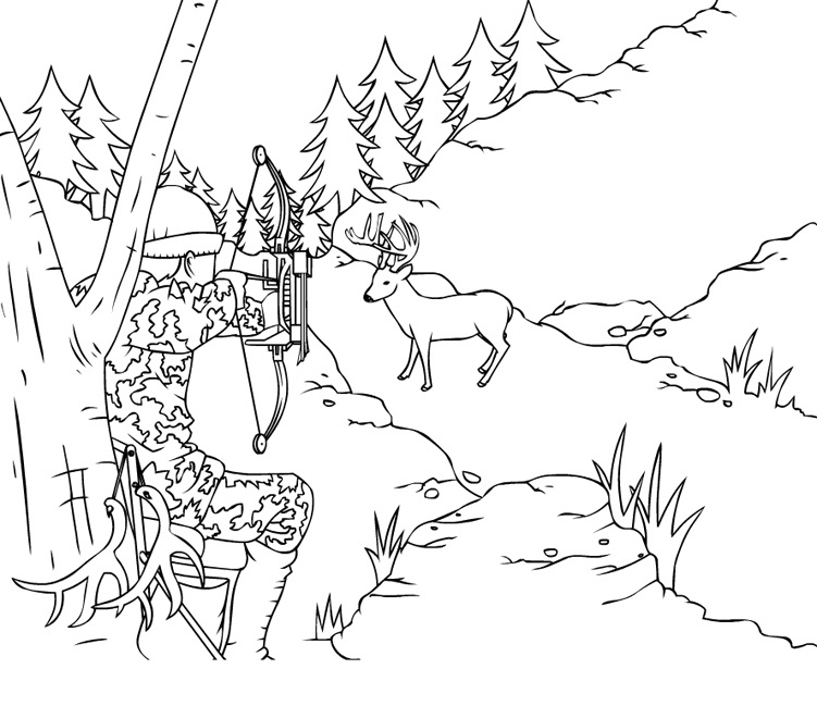 free hunting coloring pages hunter coloring pages free hunting pages coloring