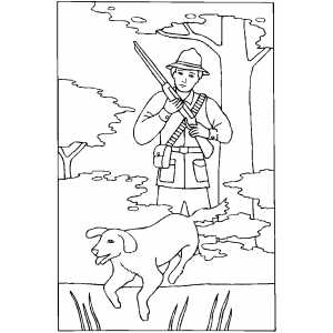 free hunting coloring pages hunter with gun and dog coloring sheet coloring free pages hunting