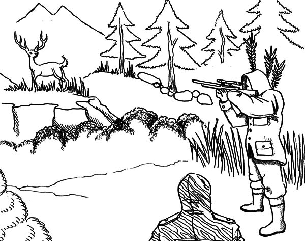 free hunting coloring pages turkey hunting coloring pages at getcoloringscom free coloring hunting pages free
