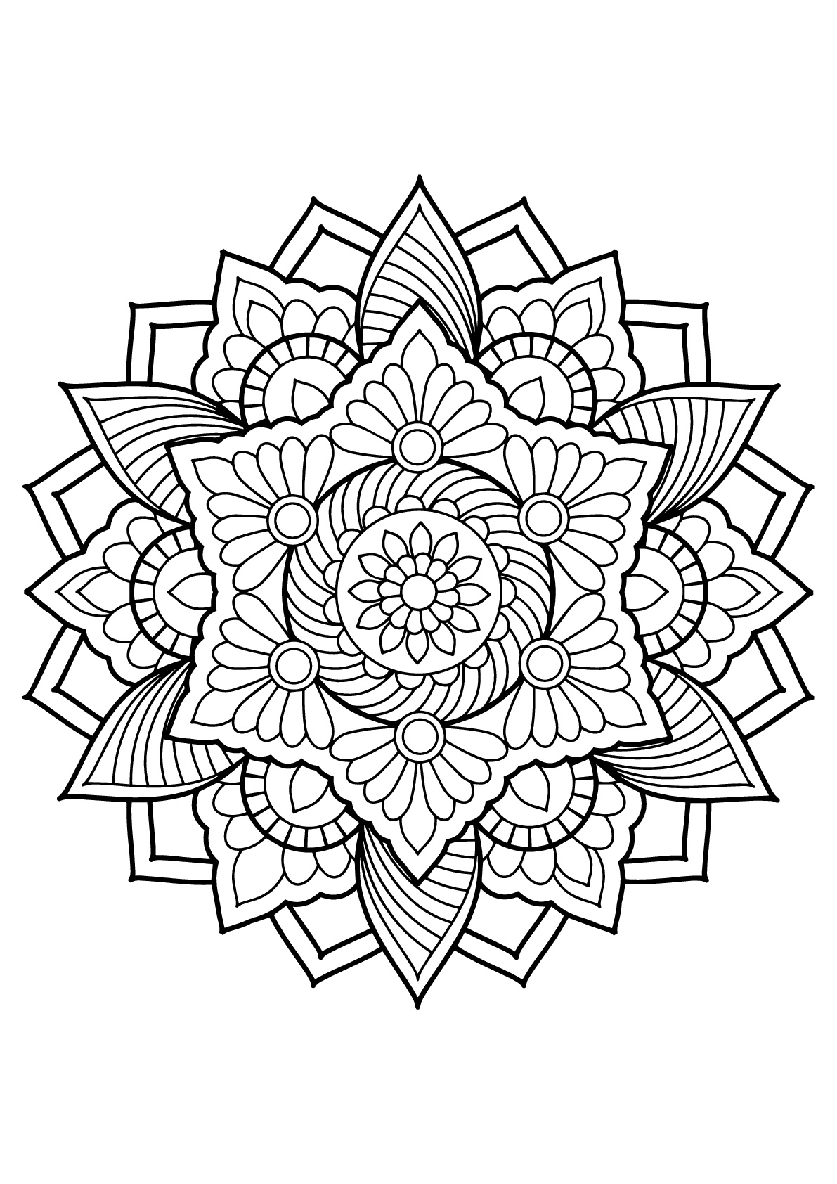 free mandalas to print and color coloring pages on pinterest coloring mandala coloring free print color and to mandalas