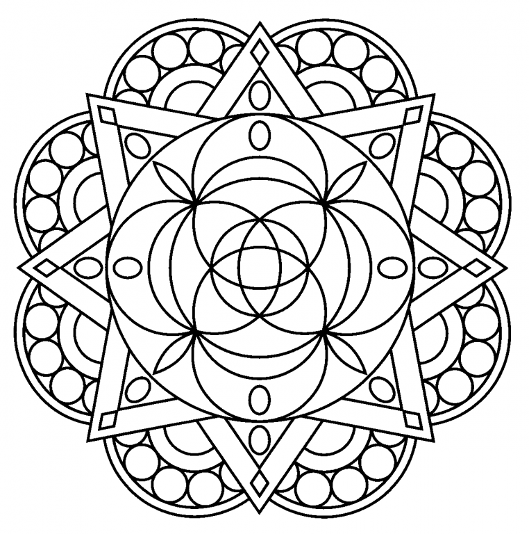 free mandalas to print and color cool easy mandala with petals easy mandalas for kids free print mandalas to color and