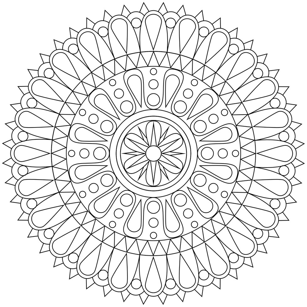 free mandalas to print and color flower mandala coloring pages printable at getdrawings and mandalas color free to print