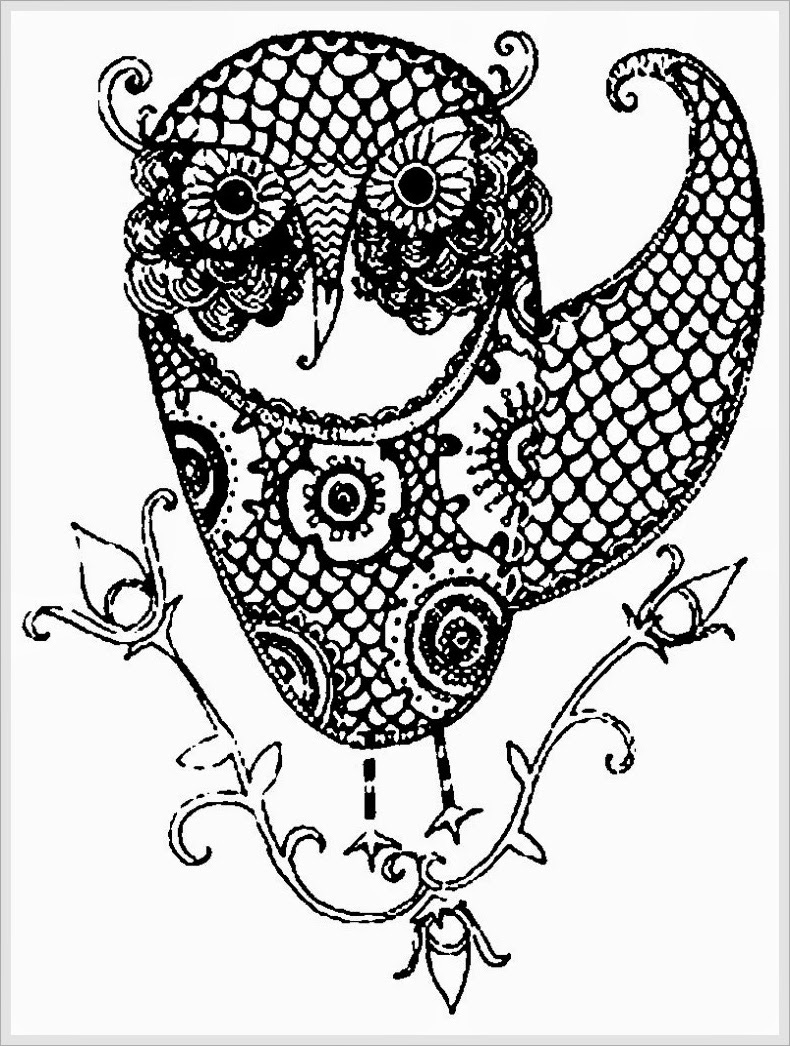 free owl coloring pages 10 difficult owl coloring page for adults free owl pages coloring