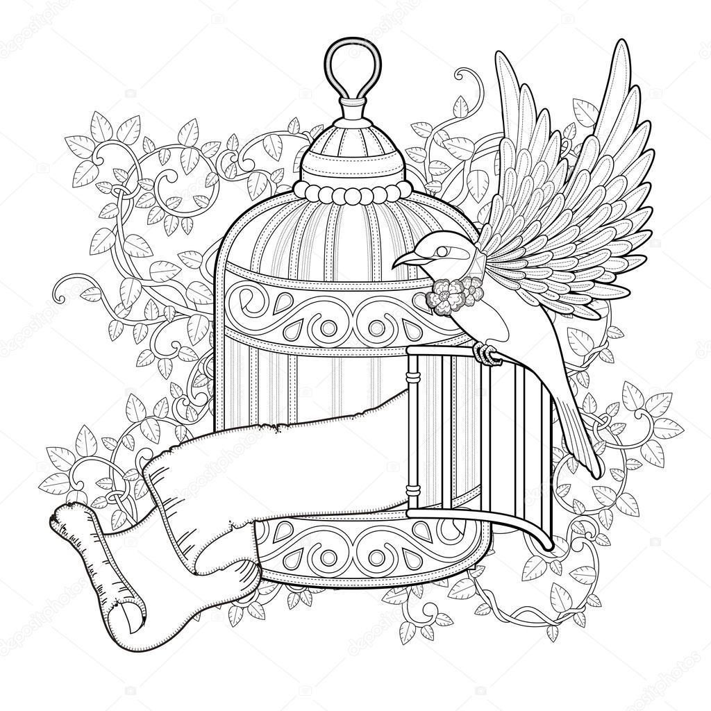 free printable birdhouse coloring pages bird cage coloring page at getcoloringscom free free birdhouse printable coloring pages