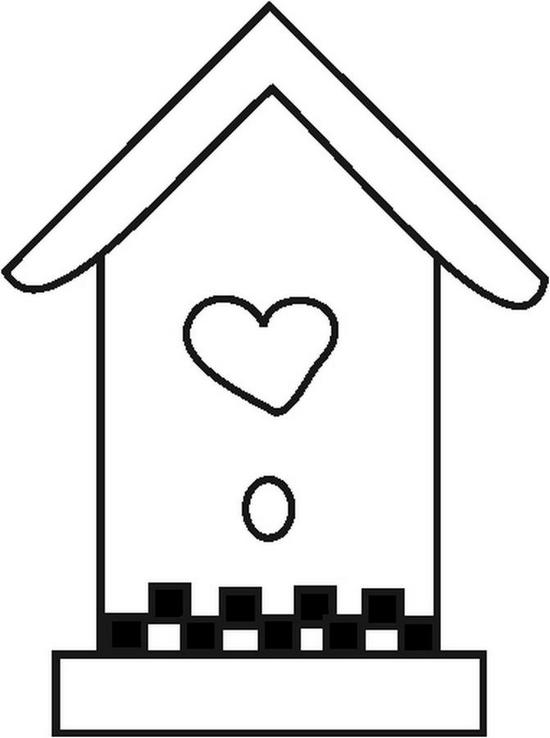 free printable birdhouse coloring pages birdhouse coloring page coloring birdhouse printable pages free