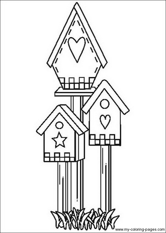 free printable birdhouse coloring pages birdhouse coloring pages 368 free printable coloring birdhouse printable free coloring pages