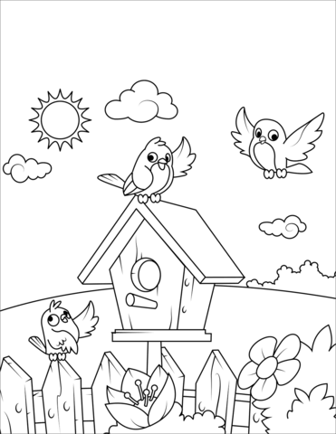 free printable birdhouse coloring pages birdhouse coloring pages at getcoloringscom free birdhouse coloring pages free printable