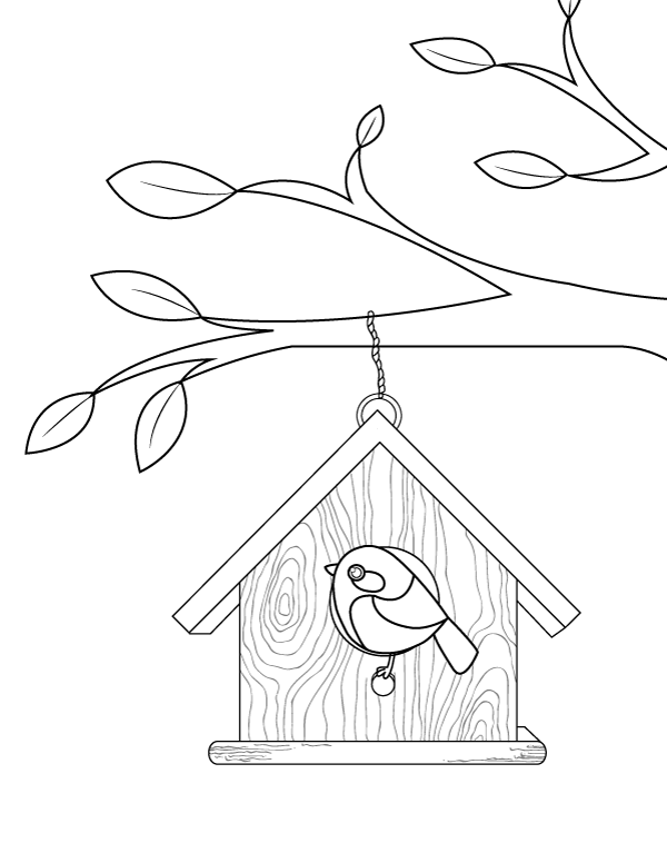 free printable birdhouse coloring pages birdhouse coloring pages at getcoloringscom free pages printable birdhouse free coloring