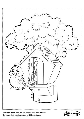free printable birdhouse coloring pages birdhouse coloring pages at getcoloringscom free printable free pages coloring birdhouse