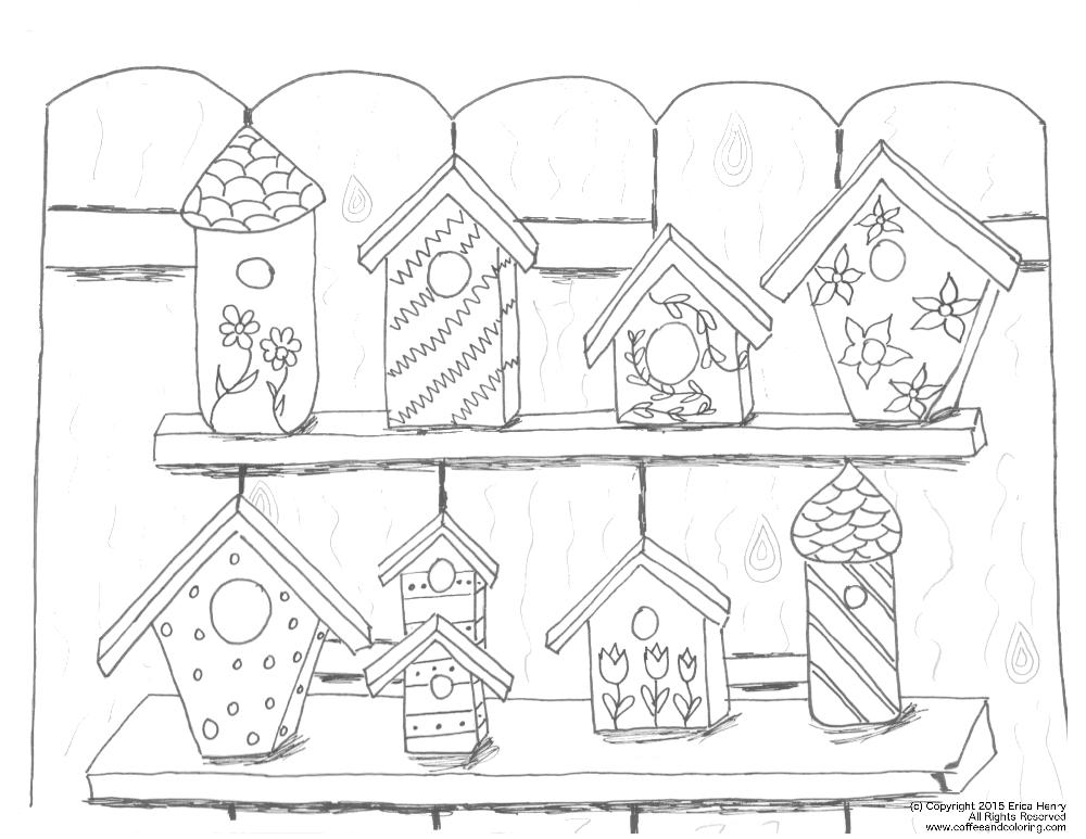 free printable birdhouse coloring pages birdhouse coloring pages at getdrawings free download pages printable free coloring birdhouse