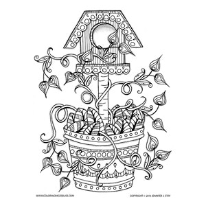 free printable birdhouse coloring pages birdhouse printable adult coloring page from favoreads etsy birdhouse coloring pages free printable