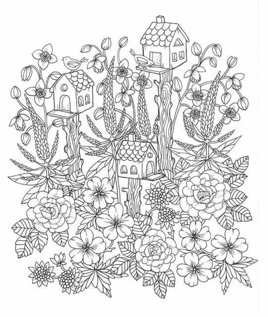 free printable birdhouse coloring pages birds near a birdhouse coloring page free printable free pages coloring birdhouse printable