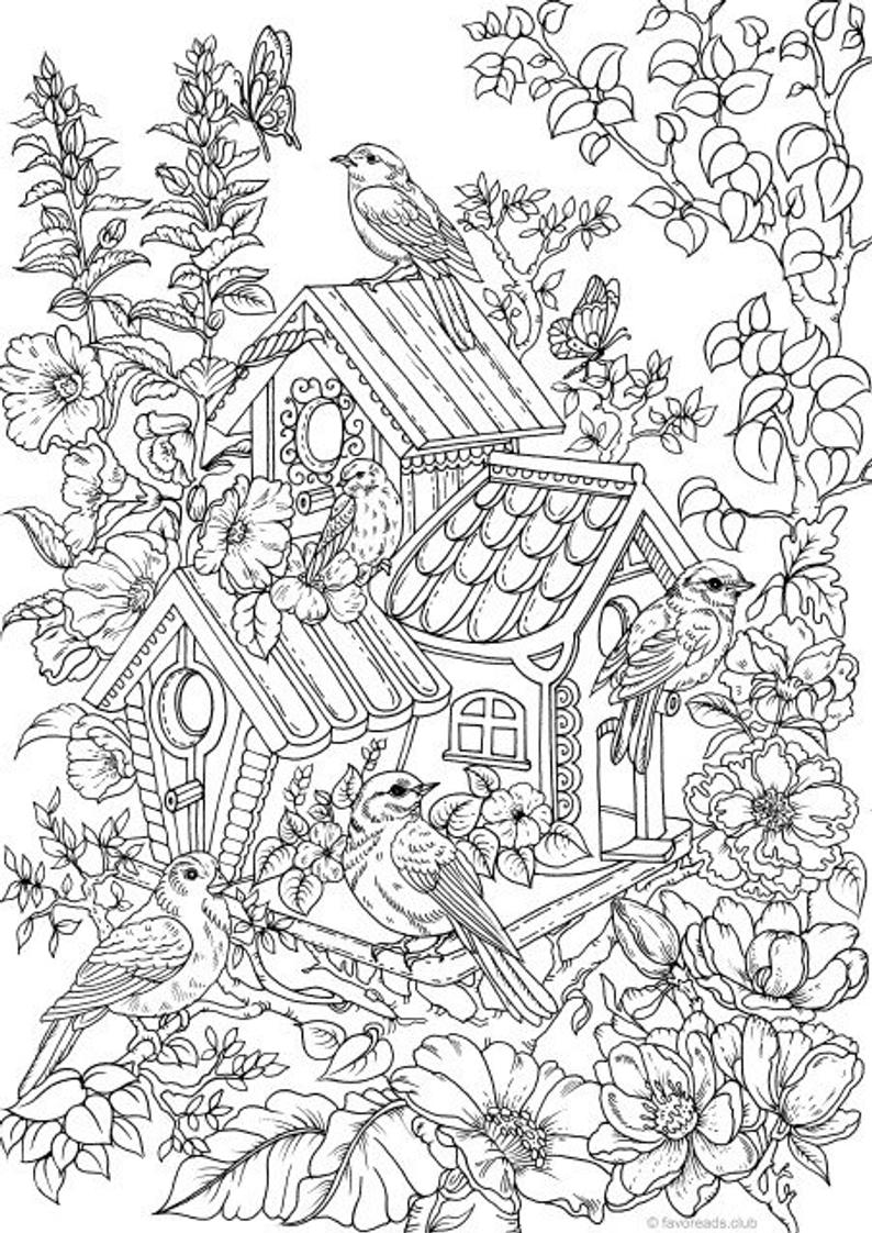 free printable birdhouse coloring pages download bird house coloring for free designlooter 2020 printable coloring free pages birdhouse