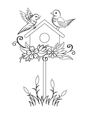 free printable birdhouse coloring pages free bird house picture download free clip art free clip birdhouse pages printable free coloring