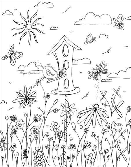 free printable birdhouse coloring pages printable coloring book pages of birds 01 free printable coloring birdhouse pages