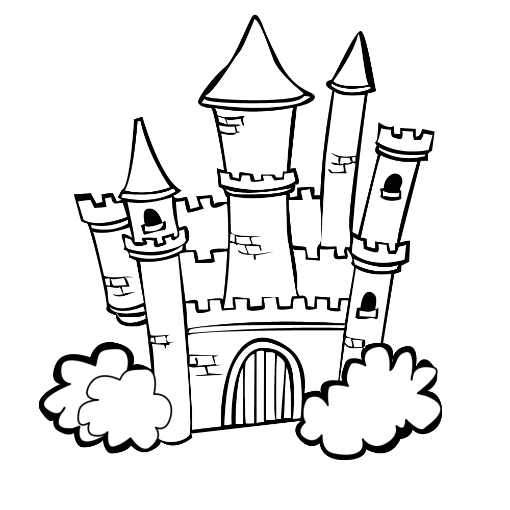free printable castle coloring pages castle drawing for kids at getdrawings free download coloring printable free pages castle
