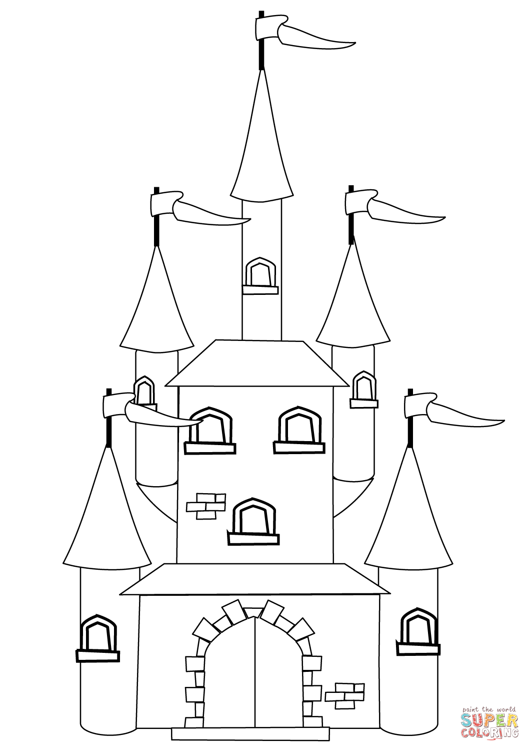 free printable castle coloring pages get this castle coloring pages free bgo7 free coloring pages printable castle