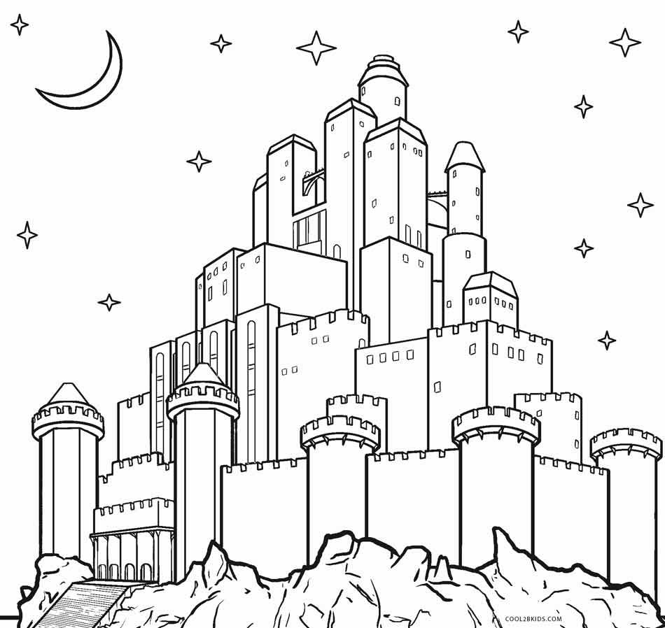 free printable castle coloring pages get this castle coloring pages to print out bx41n castle free pages printable coloring
