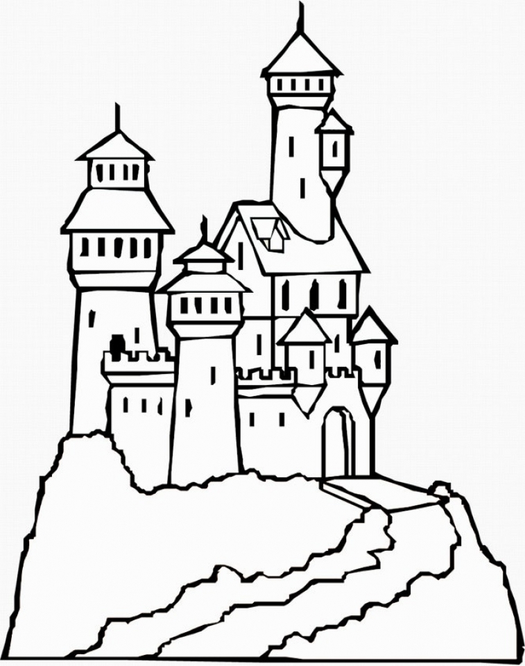 free printable castle coloring pages printable castle coloring pages for kids cool2bkids pages coloring printable free castle