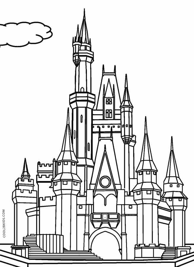 free printable castle coloring pages printable castle coloring pages for kids cool2bkids pages free castle coloring printable