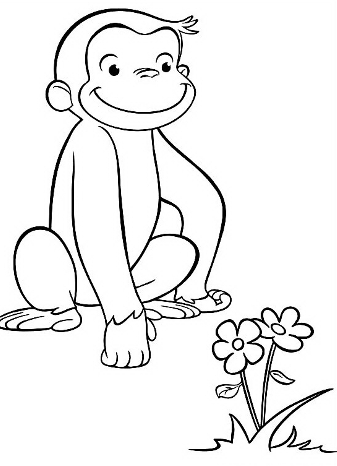 free printable curious george coloring pages 20 free printable curious george coloring pages curious coloring george pages printable free
