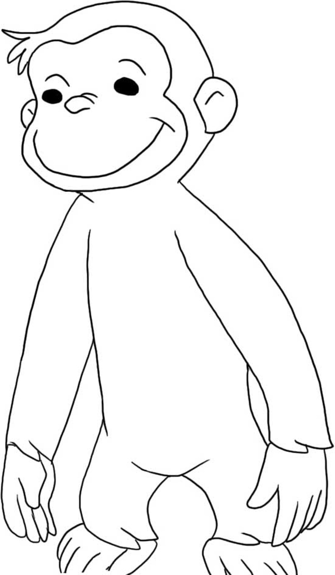 free printable curious george coloring pages curious george sitting coloring page free curious george curious printable coloring pages free george