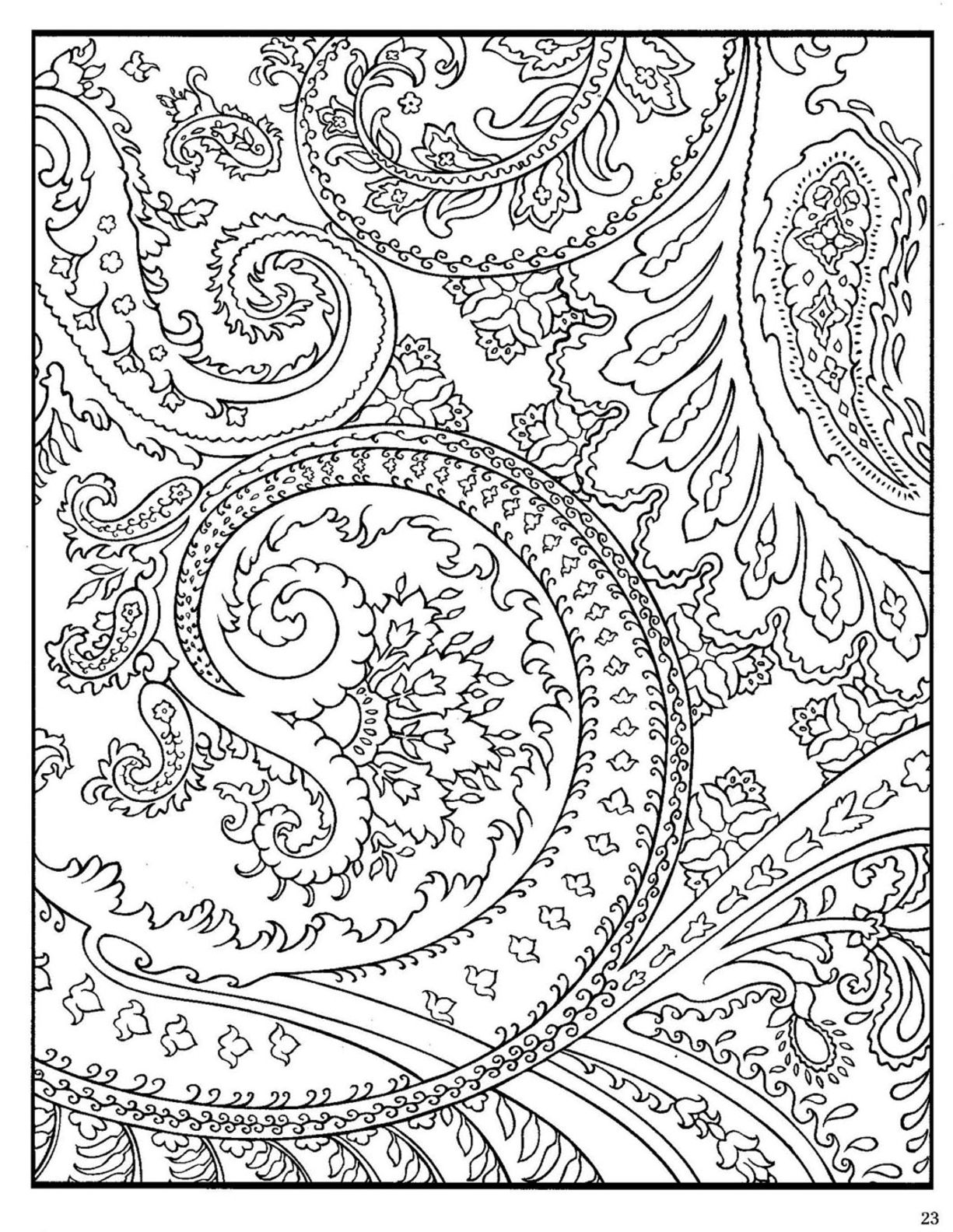 free printable design coloring pages dover paisley designs coloring book with images design printable free pages coloring