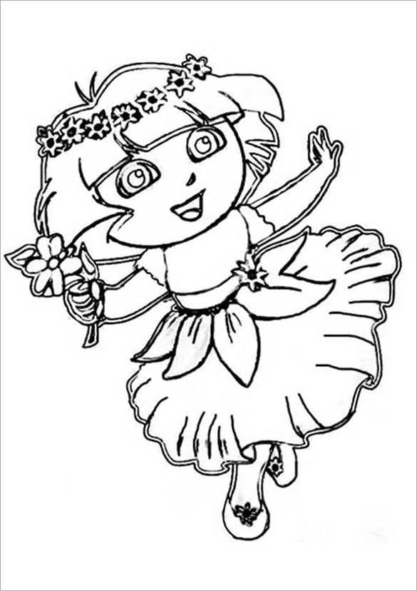 free printable dora coloring pages dora the explorer coloring pages free to printfree printable dora free pages coloring