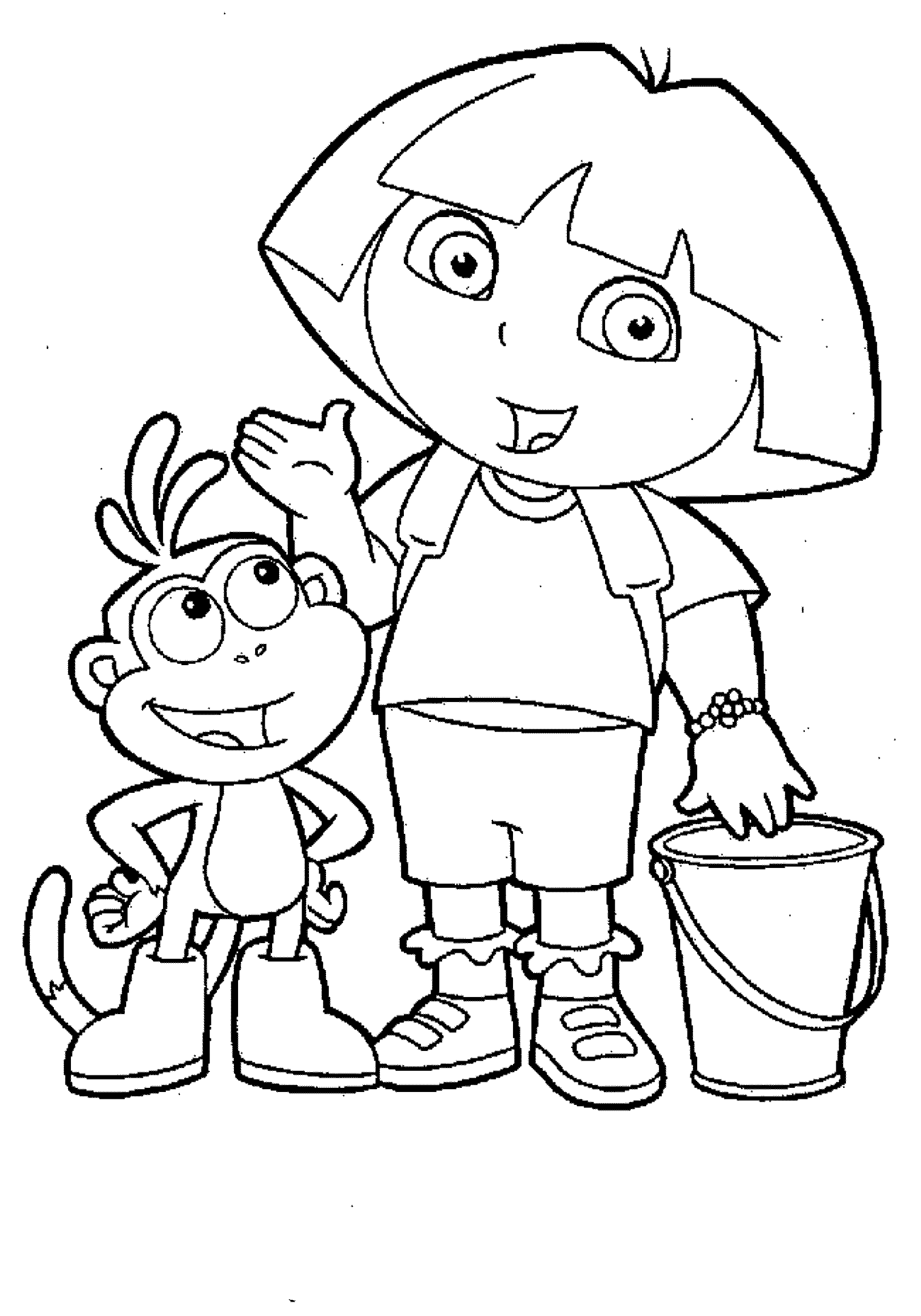 free printable dora coloring pages free printable dora the explorer coloring pages for kids pages printable dora coloring free