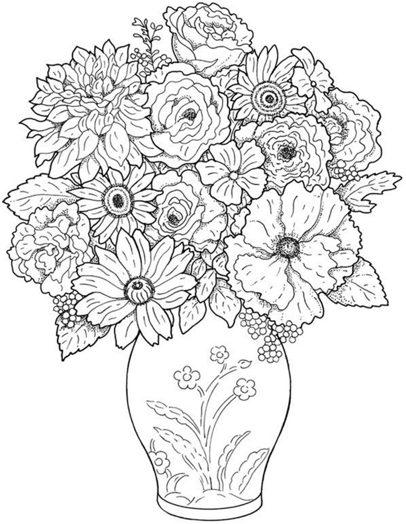 free printable flower coloring pages easy coloring pages of flowers at getdrawings free download flower coloring pages printable free
