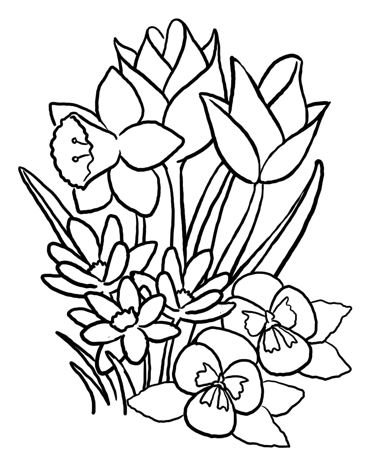 free printable flower coloring pages free printable flower coloring pages for kids best free flower printable pages coloring