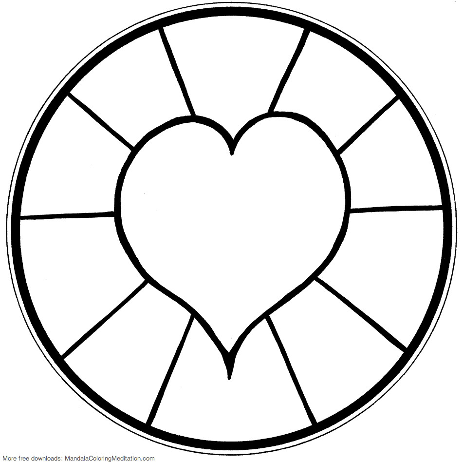 free printable heart coloring pages for kids free printable heart coloring page ausdruckbare free for coloring heart kids pages printable
