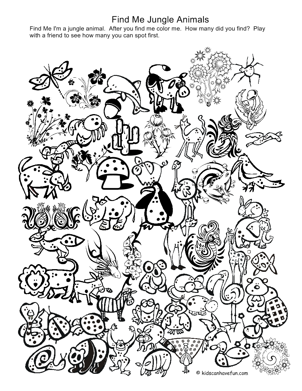 free printable jungle coloring pages jungle animal coloring pages to download and print for free free jungle coloring printable pages