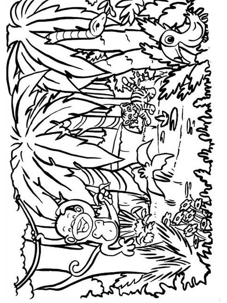 free printable jungle coloring pages jungle coloring pages 9 coloring kids free pages printable jungle coloring