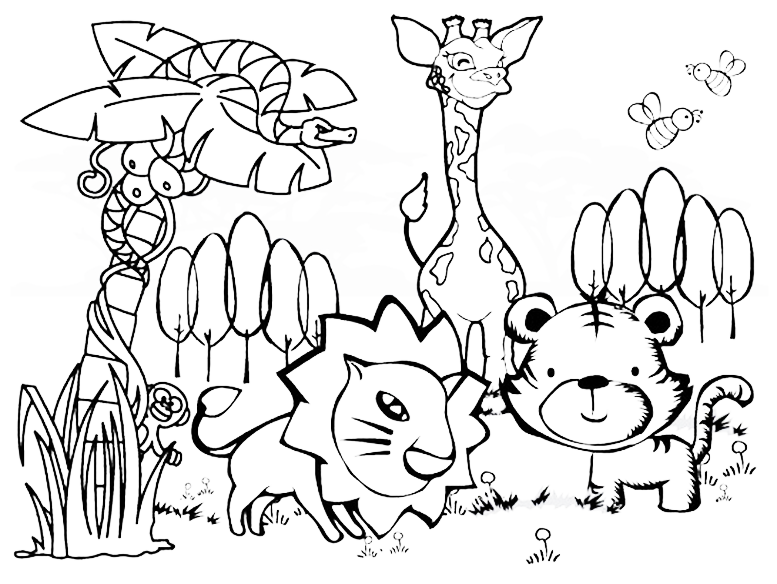 free printable jungle coloring pages jungle coloring pages download and print jungle coloring printable coloring pages jungle free