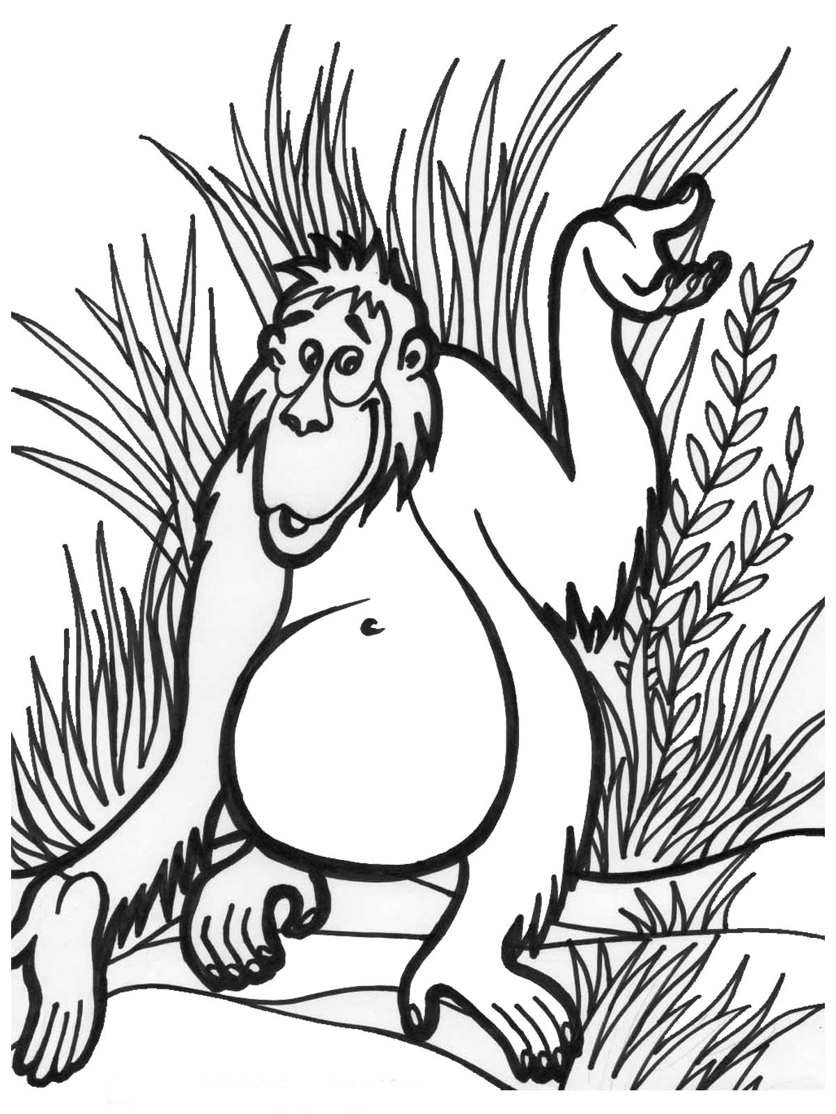 free printable jungle coloring pages jungle coloring pages to download and print for free pages free coloring jungle printable 1 1