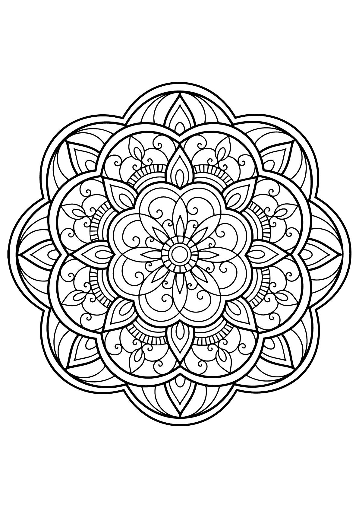 free printable mandalas to color for adults mandala adult coloring pages printable coloring home for adults color free to printable mandalas
