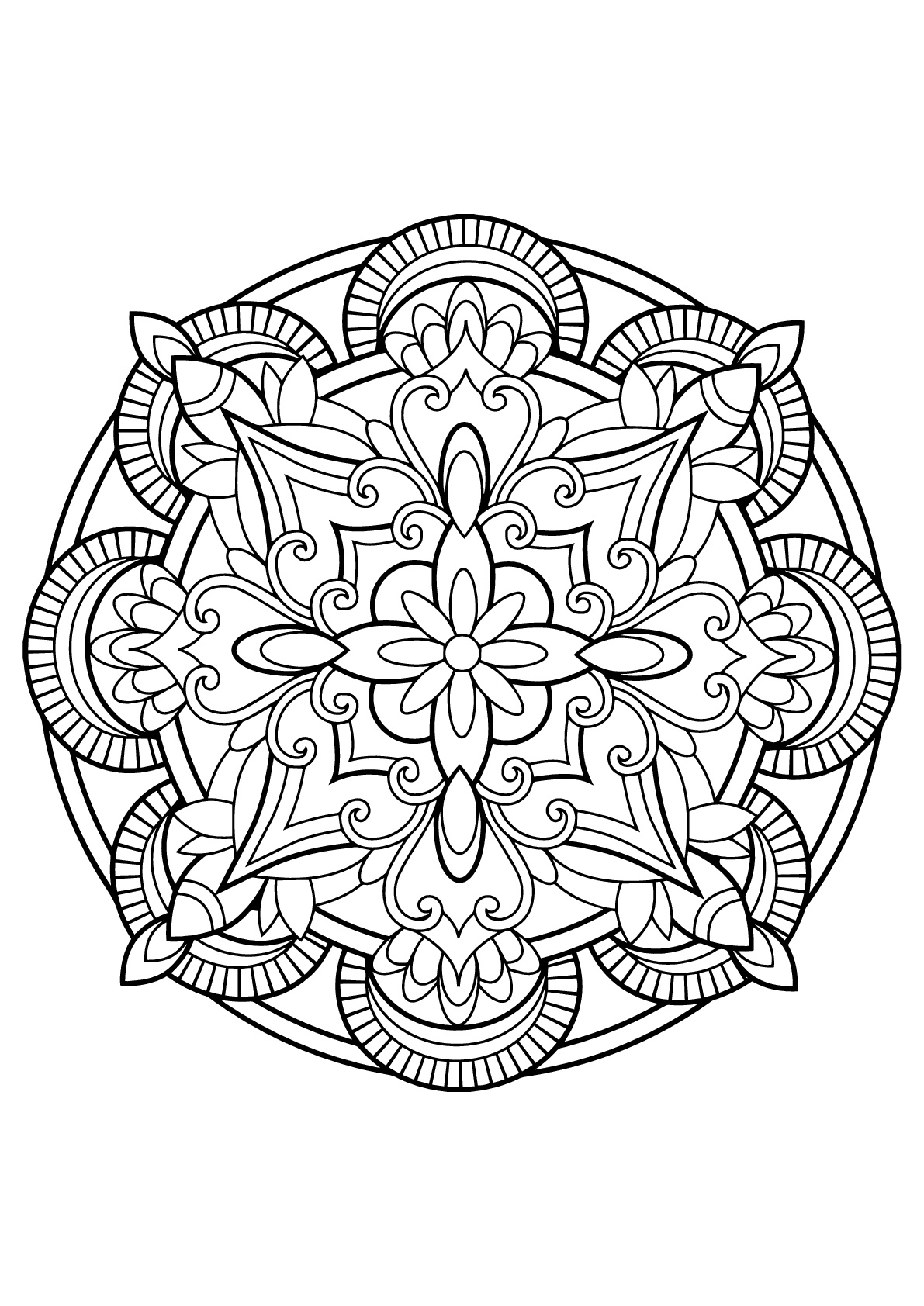 free printable mandalas to color for adults mandala from free coloring books for adults 4 mandalas to mandalas printable for free adults color