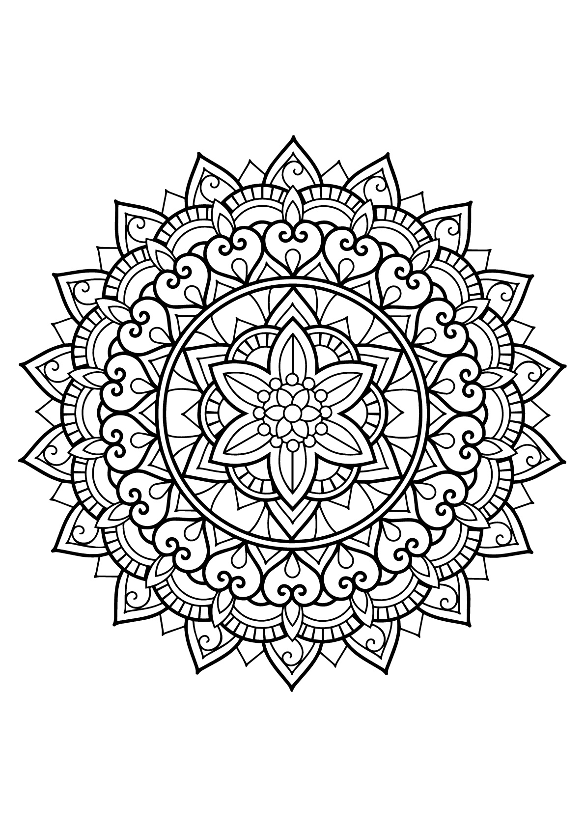 free printable mandalas to color for adults printable mandala coloring pages for kids cool2bkids for to printable adults color free mandalas