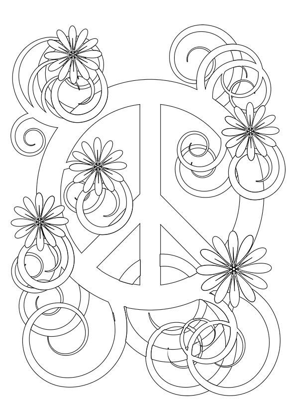 free printable peace sign coloring pages 32 peace sign coloring page in 2020 peace sign art sign coloring free peace pages printable