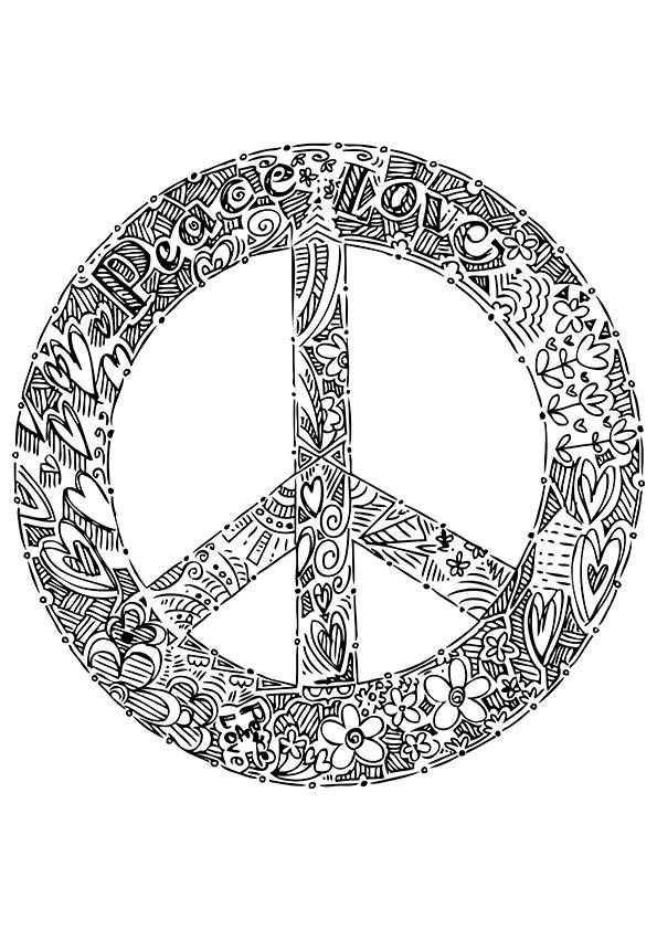 free printable peace sign coloring pages free printable peace sign coloring pages pages printable free sign peace coloring