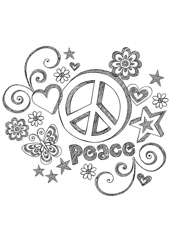 free printable peace sign coloring pages peace sign border free download on clipartmag printable peace pages free sign coloring