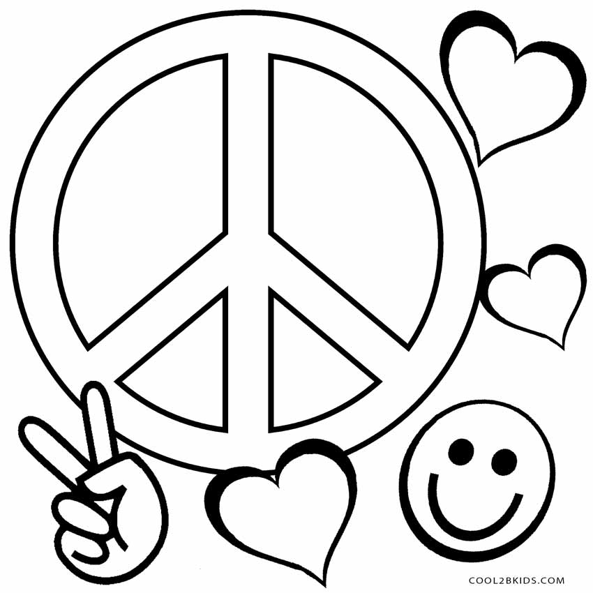 free printable peace sign coloring pages peace sign coloring pages best collections sign pages printable free peace coloring