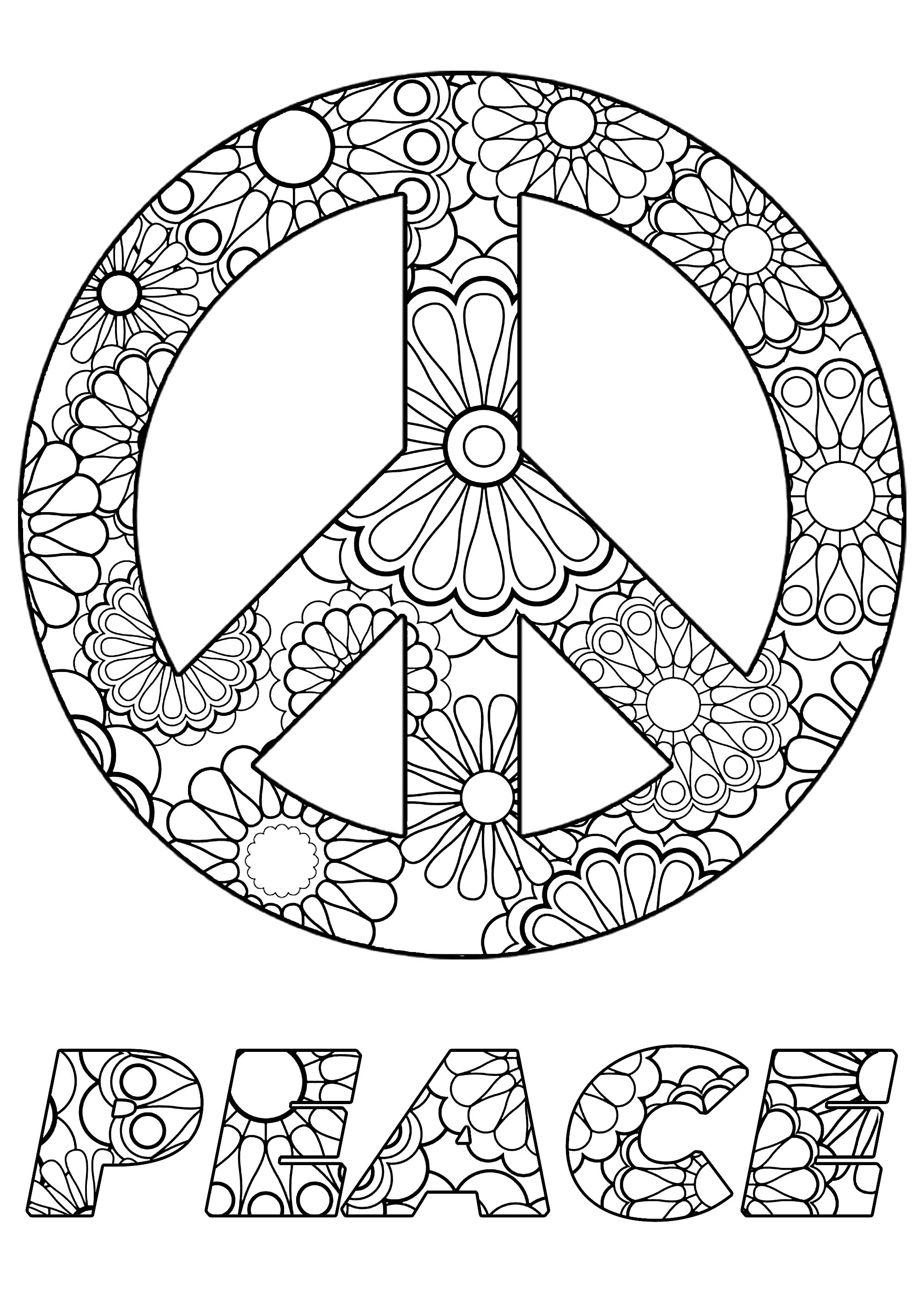free printable peace sign coloring pages simple and attractive free printable peace sign coloring free peace pages printable coloring sign