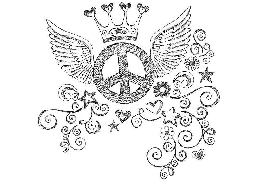 free printable peace sign coloring pages simple and attractive free printable peace sign coloring printable peace coloring sign free pages