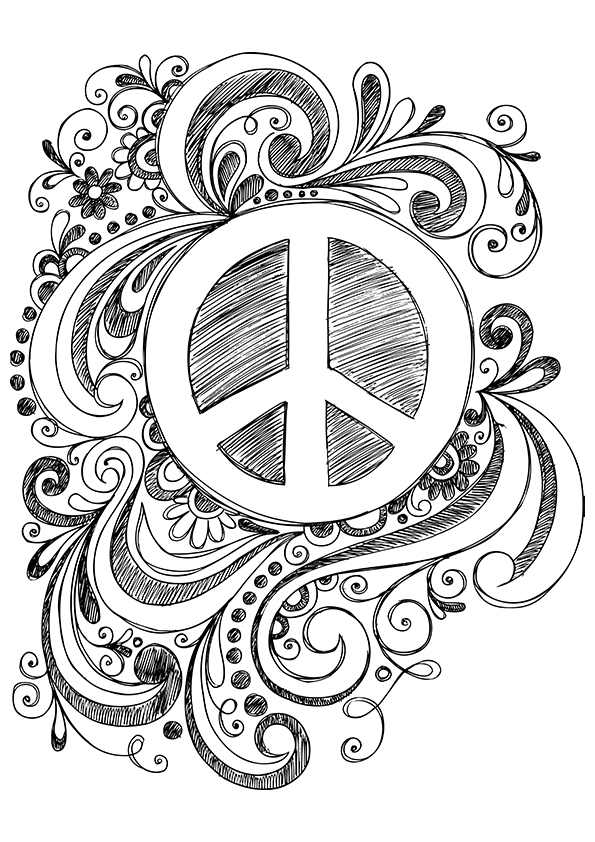 free printable peace sign coloring pages simple and attractive free printable peace sign coloring sign coloring free peace pages printable